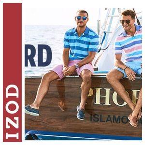 💸Men's IZOD striped polo shirt sz 7 (see chart)